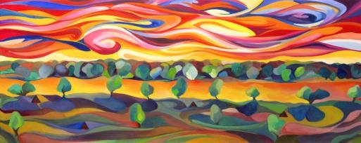 Australian River Flow- L. Waters Art