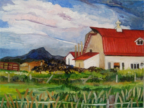 """Red Roof Meets Camel's Hump"""
