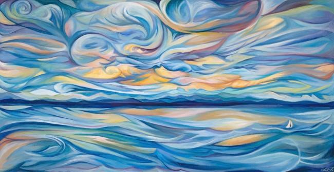 'Lake Champlain Rhythm in Blue'