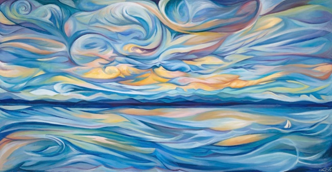 'Lake Champlain Rhythm in Blue'