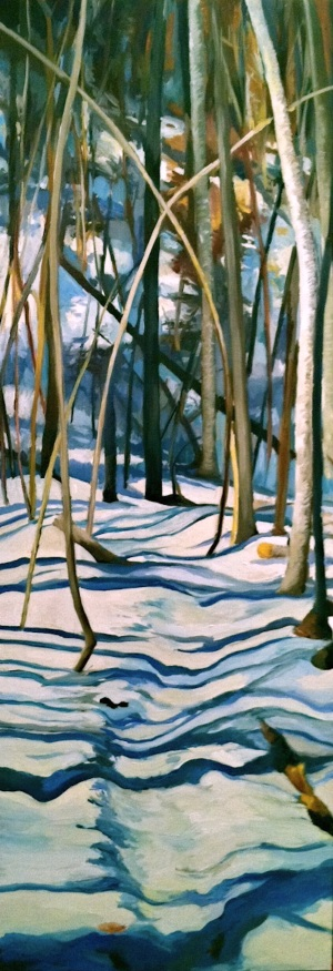 winter hike painting
