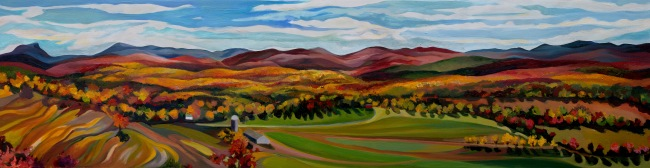 """Oil on Cradled Birch Panel, 14"""" x 50"""". Commission. Prints Available."""